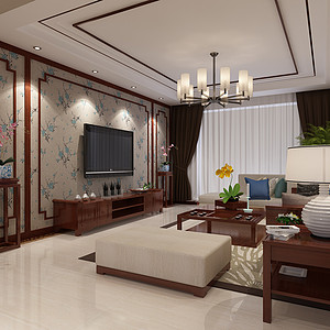 京南一品-四室两厅-新中式风格装修案例