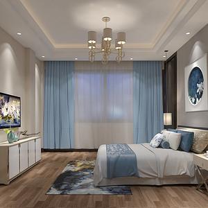 松山湖3号别墅二层卧室装修效果图