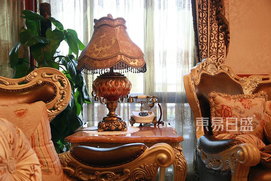 别墅-新古典客厅沙发局部-效果图