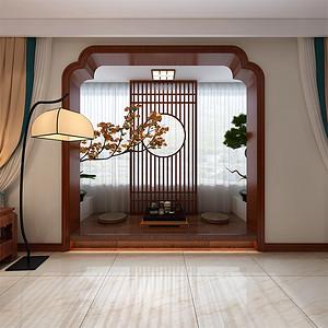 新中式-客厅阳台