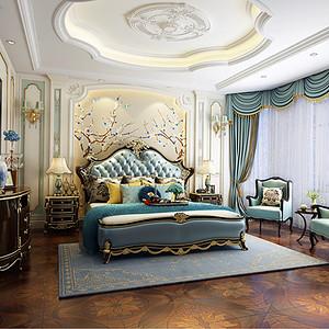 太湖国际社区 美式新古典 卧室
