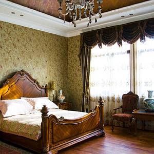 海逸独栋别墅新古典风格卧室装修实景图