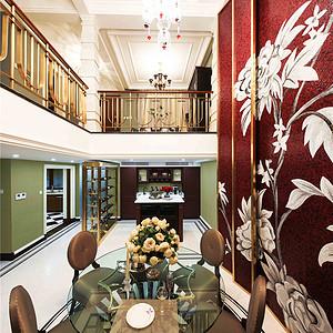 富力津门湖美式风格地下室装修效果图