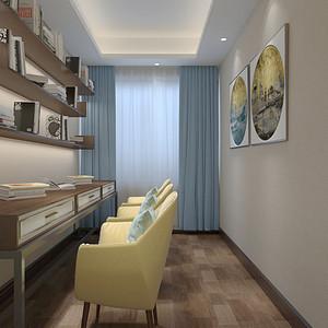 松山湖3号别墅二层阅读室装修效果图