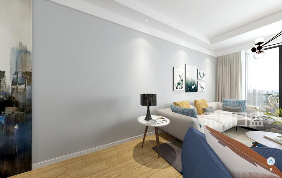 128㎡三居室北欧风格 客厅装修效果图