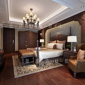 城市嘉苑240平美式卧室