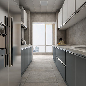 雅颂居北欧风格厨房装修效果图