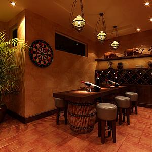 玛歌庄园法式新古典风格酒柜区装修效果图