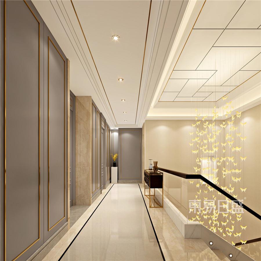 现代中式轻奢风格走廊效果图_2018装修案例图片-装饰图片