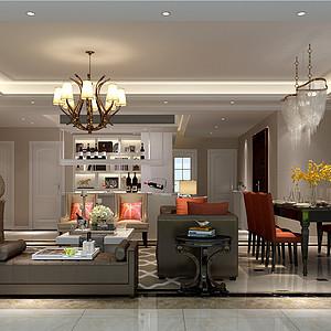 南城万科翡丽山装修效果图-165㎡现代简约风格四居室装修案例