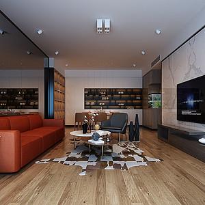天鹅堡-现代风格-客厅装修效果图