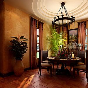 玛歌庄园法式新古典风格餐厅装修效果图