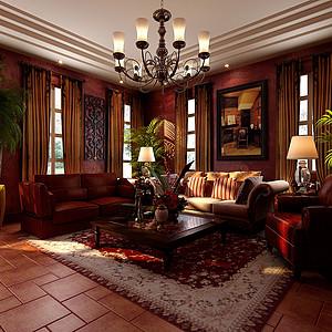 玛歌庄园法式新古典风格客厅装修效果图