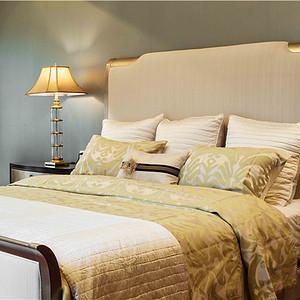 富力津门湖美式风格主卧室装修效果图