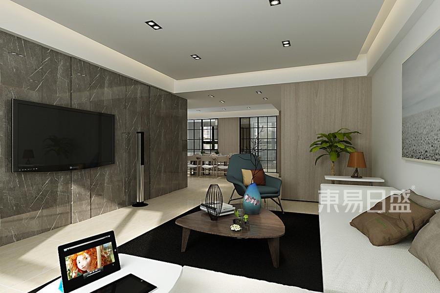 叠山院现代风格客厅装修效果图