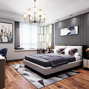 太东时尚岛-现代简约-卧室装修效果图
