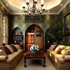 玛歌庄园法式新古典风格休闲区装修效果图