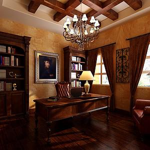 玛歌庄园法式新古典风格书房装修效果图