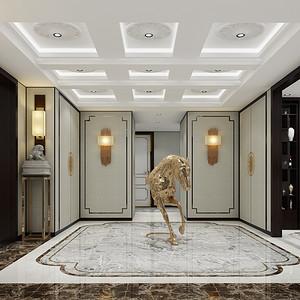 龙熙台262平现代中式五居门厅