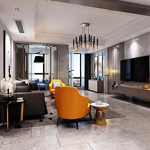太东时尚岛-现代简约-客厅装修效果图