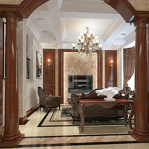 欧式客厅装修图