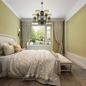 合景御华园美式风格卧室装修效果图