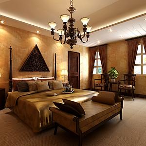 玛歌庄园法式新古典风格卧室装修效果图