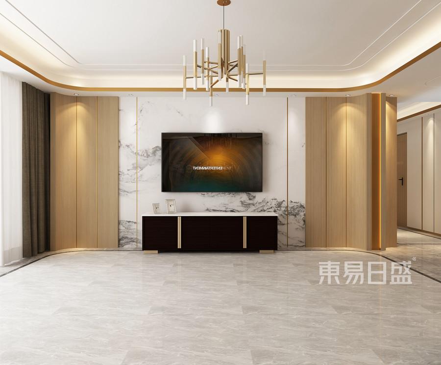 轻奢风格客厅装修设计