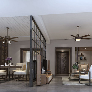 星海名城 现代简约风格装修效果图 210平米 五房两厅装饰设计