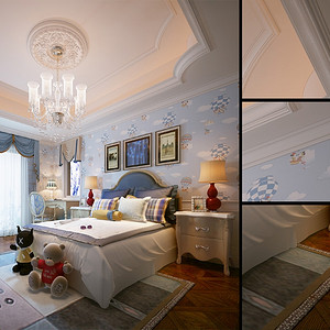 碧桂园法式风格别墅装修效果图-法式装修效果图 法式装修图片 法式装