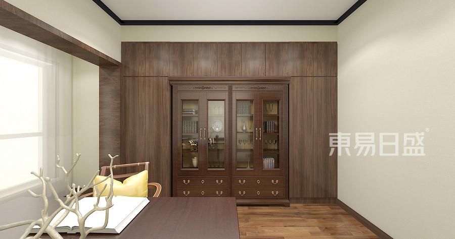 135平米阳光100现代中式风格书房装修效果图