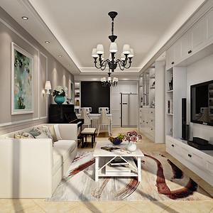 华润城 现代风格 89平米  三房2厅 装修效果图