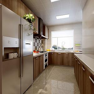 港西新城现代风格厨房装修效果图