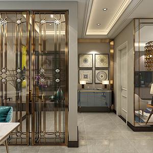 海航城-现代轻奢风格-客厅装修效果图