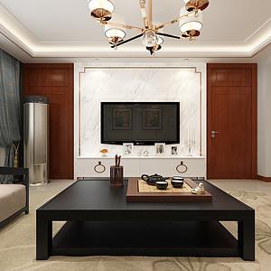 瀚唐小区三室两厅现代简约风格装修案例