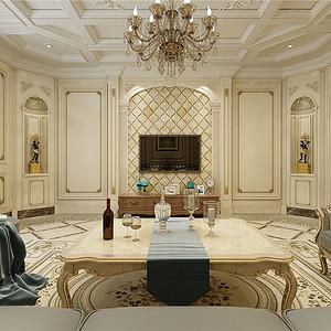 复康路十一号欧式风格客厅装修效果图