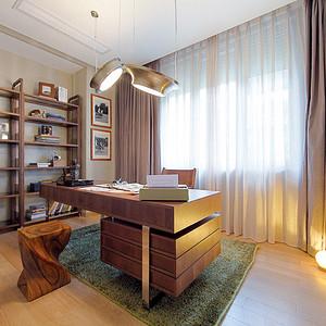 新中式极简风书房装修效果图-第54页 西安新中式书房装饰效果图 西安