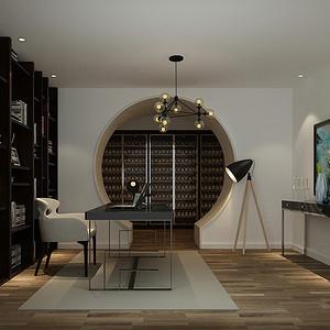 万泉新新家园-现代风格-书房