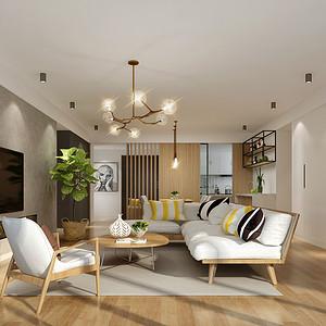客厅吊顶装修效果图 北欧风格