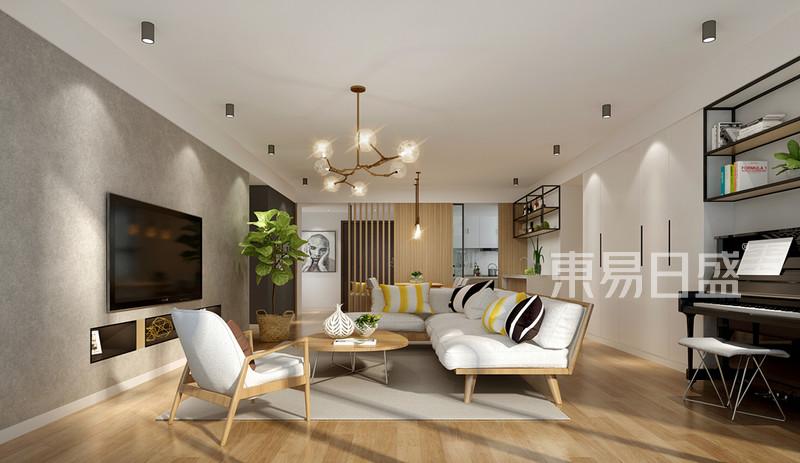 客厅吊顶装修效果图 北欧风格_北欧效果图大全2018
