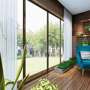 海航城-现代轻奢风格-窗台装修效果图