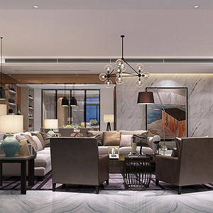 现代风格别墅客厅装修效果图设计