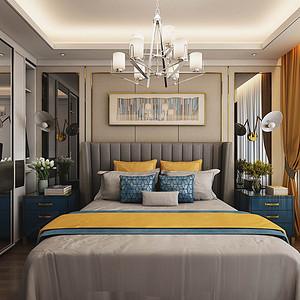 海航城-现代轻奢风格-卧室装修效果图