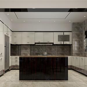 蘭栖墅现代中式厨房装修效果图