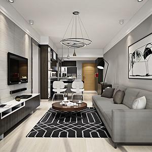 华润城 现代风格 89平米 三房两厅 装修效果图