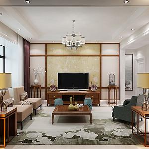 万象春天 90㎡ 三室两厅 新中式装修效果图