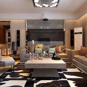 现代简约客厅沙发背景墙
