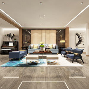 逸翠园  现代简约风格装修效果图 四室两厅 300㎡