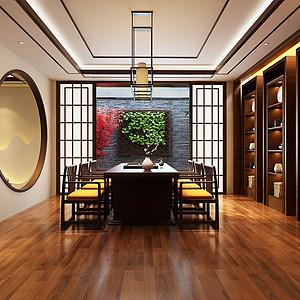 星河丹提-新中式风格-餐厅装修效果图