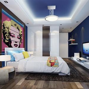 北欧风格 床头背景墙 装修效果图